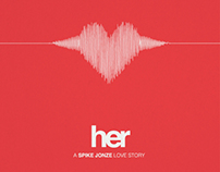 """Her"" minimalist movie poster"