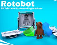 Rotobot - 3D Printable Rotomolding Machine