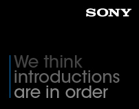 Sony 'Introductions' Brochure