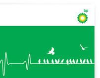 Avian Flu informational poster for BP Azerbaijan