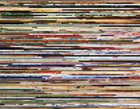 Horizontal Slices: visualizing artist's lifetime work