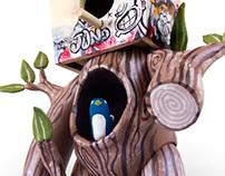 'Those Bloody Birds' Custom vinyl toy