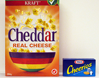Label Swap: Cheerios & Kraft Cheddar