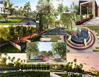 Contemporary Landscape designs Vray Multiscatter