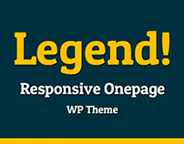 Legend: Free Responsive One Page WP Theme