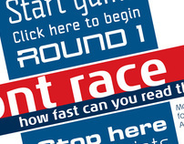 Linotype font-race booth