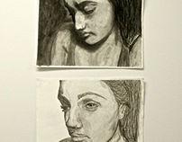 Drawing I: Self Portrait Diptych