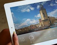 iPad Weather App