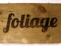 Foliage [environmentally conscious graphic design]