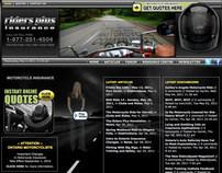Web Design for COMMbits Inc./Riders Plus Insurance