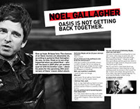 Noel Gallagher – No Reunion Two Page Spread