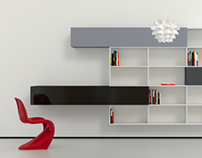 Cabinet with rectangular shapes