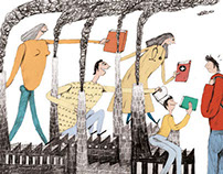 "Illustration for the Danish magazine ""Magisterbladet""."