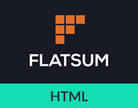 FLATSUM - Minimal HTML5 Portfolio Template