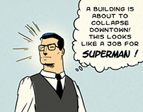Superman Vs The Bum