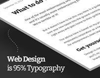 Clexit - Ultra minimalist responsive Website Design