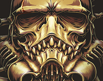"""The SkullTrooper"",Inspired by Star Wars : Stormtrooper"