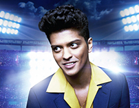 Bruno Mars - Super Bowl 48th Halftime Show Promo Poster