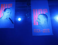 HIPHOP party, poster and stage