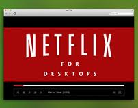 Netflix Desktop Concept