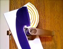 Amplifying Phone Door Hanger Advertisement