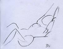 Life drawing croquis