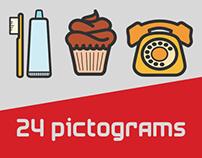24 Pictograms Set - Free Download