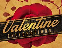 Valentines Party Flyer Retro
