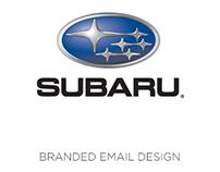 Subaru branded email design