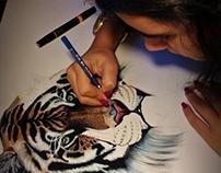 Desenho Tigre // Tiger Drawing