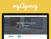 myAgency - Creative PSD Template