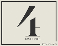 Four Seasons - Typographic Posters
