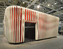 fibreC fins for Pavilion at Swissbau Basel | CH