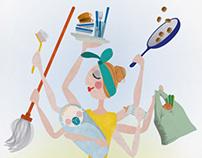 "Illustrations for the Danish magazine ""Our Children"""
