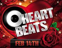 Heart Beats Party Flyer