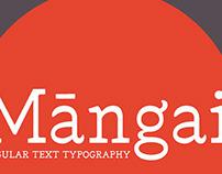 Tipografía Mangai