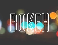 Bokeh Typography