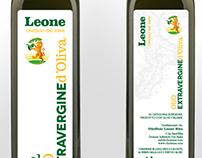 Oleificio Leone - Olive Oil label (bottle and oilcan)