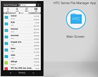 HTC Sense File Manager App interface