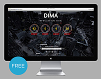 Free PSD & HTML5/CSS3 Coming Soon Page