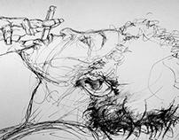 Cross hatching illustration