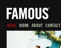 Famous.be website
