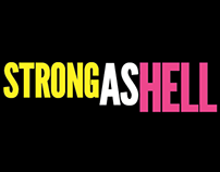 """Tshirt Design—Females are """"Strong As Hell,"""" March 2015"""
