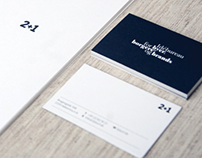 Visual identity for 2+1 Ideas agency
