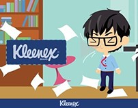 Kleenex Tissue Box Illustration Design