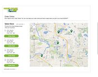 Redesign of Online Food Ordering - Wireframes