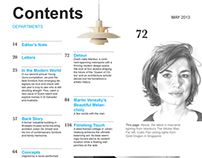 Dwell Table of Contents Recreation