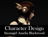 Character Design: Steamgirl Amelia Blackwood