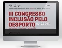 Website Congresso Nacional Inclusão Pelo Desporto