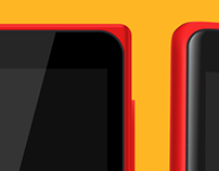 Nokia X | Free vector mockups